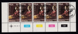 SOUTH AFRICA, 1981, Cancelled To Order Stamps, 1 Control Strip Of 5, Reading Braille,  SA 500 - South Africa (1961-...)