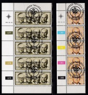 SOUTH AFRICA, 1981, Cancelled To Order Stamps, 2 Control Strip Of 5, 20 Years Republic,  SA 497-498 - South Africa (1961-...)