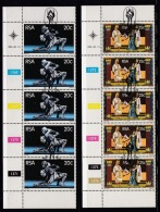 SOUTH AFRICA, 1981, Cancelled To Order Stamps, 2 Control Strip Of 5, State Theatre,  SA 494-495 - South Africa (1961-...)