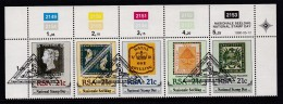 SOUTH AFRICA, 1990, Cancelled To Order Stamps, 1 Control Strip Of 5, National Stamp Day,  SA 722-726 - Used Stamps