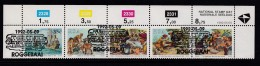 SOUTH AFRICA, 1992, Cancelled To Order Stamps, 1 Control Strip Of 5, National Stamp Day,  SA 762-766 - Used Stamps