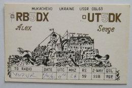 Kt 728 / QSL Radio Card, USSR, Ukraine,  Mukachevo - Radio Amateur