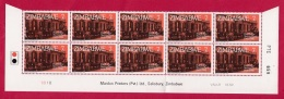 ZIMBABWE, 1980, Cancelled To Order Stamps, 4 Control Block Of 10, Postal Savings Bank  M 247-250 - Zimbabwe (1980-...)