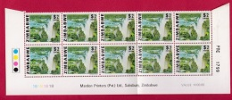 ZIMBABWE, 1980, Cancelled To Order Stamps, 4 Control Block Of 6, Definitives,  M 227-241 - Zimbabwe (1980-...)