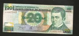 HONDURAS - BANCO CENTRAL De HONDURAS - 20 LEMPIRAS (1997) - Honduras