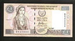 CYPRUS / CIPRO - CENTRAL BANK Of CYPRUS - 1 Lira / 1 Pound (1997) - Chypre