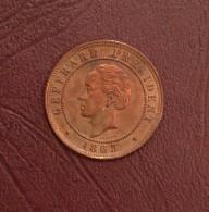 HAÏTI - 20 CENTIMES Président Geffrard - 1863,  Heaton - Haïti