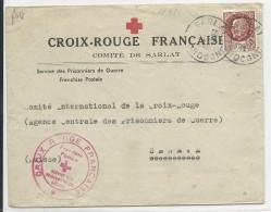 1940 - PRISONNIERS DE GUERRE - ENVELOPPE CROIX-ROUGE Du COMITE De SARLAT (DORDOGNE) Pour GENEVE - Guerra De 1939-45