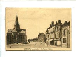 CP   Grandpre (08) LA PLACE ET L EGLISE - Frankrijk