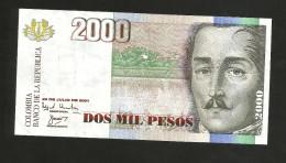 COLOMBIA - BANCO De La REPUBLICA - 2000 PESOS (2001) - Colombia