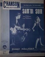 Partition Collection 1962 Johnny HALLYDAY Sam'di Soir Du Film Les Parisiennes   *gf229* - Autres