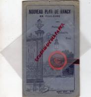 54 - NANCY - BEAU PLAN EN COULEURS -HAVAS-MAGASINS REUNIS-VETEMENTS GILLET LAFOND-CAFE GLACIER DU THEATRE - Dépliants Touristiques
