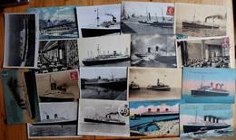 Bateaux / Paquebots - 36 CPA / CPSM - France - Normandie - Pasteur - Maroc - Alberta - Laferrière - Colombie - Italia... - Paquebots