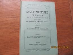 REVUE MEDICALE DE LOUVAIN N° 7 - 1932 La Poliomyélite Infantile R. BRUYNOGHE - Livres, BD, Revues