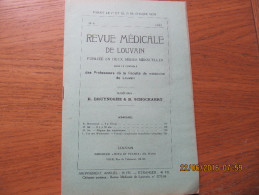 REVUE MEDICALE DE LOUVAIN N° 8 - 1932 Régime Des Néphritiques M. IDE - Livres, BD, Revues