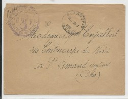 1940 - ENVELOPPE FM De La BRIGADE De GENDARMERIE De BUZANCAIS (INDRE) - Marcophilie (Lettres)