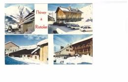 05 Hiver à Ristolas Carte 4 Vues Eglise Hotel Centre De Vacances - Frankrijk
