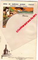87 - LIMOGES - BEAU MENU HOTEL DU MARECHAL JOURDAN -CHAMINADE ET PAGES PROPRIETAIRES- BENEDICTINE - Menus