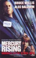 Télécarte Japon Cinéma * 4013 * MERCURY RISING * BRUCE WILLIS * Japan Movie Phonecard * TELEFONKARTE * FILM * CINEMA - Film
