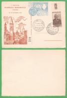 Thiene 1° Mostra Filatelica 1957 Annulli Cp Maximum - Vicenza