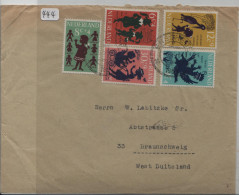 1963 Voor Het Kind Satz Von Enschede Nach Braunschweig - Periode 1949-1980 (Juliana)