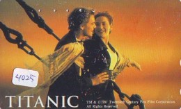 Télécarte Japon Cinéma * 4025 * TITANIC *  Japan Movie Phonecard * TELEFONKARTE * FILM * CINEMA - Cinema