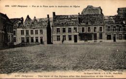 LOO - Vue De La Place Après La Destruction De L'Eglise - Lo-Reninge