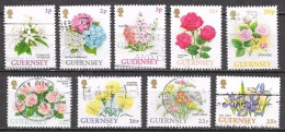Guernesey - Fleurs  - Oblitérés - Lot 95 - Guernesey