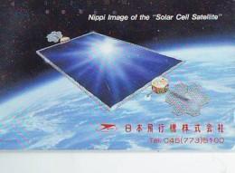 Télécarte Japon * Cellules Solaires Par Satellite -  Solar Cell Satellite (22) - Cars