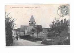 9165 - 60 - MARSEILLE LE PETIT : L'église Et Rue De La Chapelle - Sonstige Gemeinden