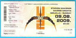 U2 - 360° Tour Or Kiss The Future ** Ticket For Croatian Concert ** Ireland Rock Music Group Musique Billet Musik Musica - Tickets - Vouchers