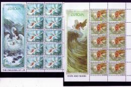 EIRE IRELAND IRLANDA 1997 EUROPA CEPT THE CHILDREN OF LIR OSIN AND NIAMH BLOCK SHEET BLOCCHI FOGLIETTI SERIE SET MNH - 1949-... Repubblica D'Irlanda
