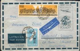 POLEN 1961 - Luftpostbelegbeleg Mit  MiNr: 1272+1307 - Covers & Documents