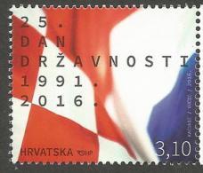 HR 2016-1232 25th INDEPNDENT DAY, HRVATSKA CROATIA, 1 X 1v, MNH - Briefmarken