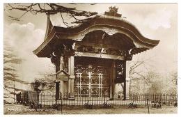 RB 1100 - Early Real Photo Postcard - Japanese Temple - Kew Gardens London - London Suburbs