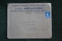 Enveloppe Timbrée Publicitaire Et Factures, BEZIERS, Engrais Et Produits LOUIS BARTHELEMY, Av. De Belfort, Villa HELENE - Francia