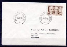 Inventeur Sur Enveloppe,  24-10-1955   Fourcault, Gobbe, 978 - Belgique