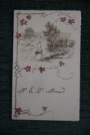 MENU D´un Repas à L´Hotel CULIE , Le 18 Juillet 1894 - Menus
