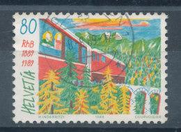 Suisse N°1317 Train Et Viaduc - Used Stamps