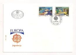YOUGOSLAVIE  ( EU - 436 )   1987    N° YVERT ET TELLIER  N°  2098/2099 - 1945-1992 Socialist Federal Republic Of Yugoslavia