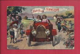 CPA ITALIE - SALUTIDA DI SPEZIA - Automobile - Oblitération - La Spezia
