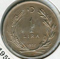 Turquie Turkey 1 Lira 1957 KM 889 - Turquia