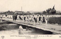 "V3949 Cpa 03 Vichy - Fêt De Gymnastique - La Société "" L'Arlerte"" - Vichy"