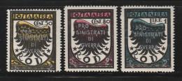 "Italian Colonies Egeo Aegean Islands German Occupation 1944 Surcharge ""PRO SINISTRATI DI GUERRA"" Lot MNH (B352) - Aegean (German Occ.)"