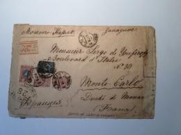 """Russie Russia """"PETROGRAD 22.12.1917"""" Censored Cover > MONTE CARLO (censor Zensur Censure France Lettre Brief 1914-18"""