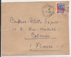 1960 - GUERRE D´ALGERIE - ENVELOPPE FM  De FORT POLIGNAC OASIS Pour COLMAR - Algérie (1924-1962)