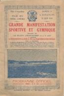 Programme Grande Manifestation Sportive Angoulême - Angouleme