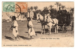 EGYPTE - EGYPT - Voiture Du Caire Avce Saïs - VOITURE À CHEVAL - ATTELAGE - HORSE CARRIAGE - Unclassified