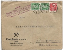 ALEMANIA KIEL 1928 CC A PARIS - Deutschland
