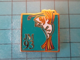 PIN916c Pin´s Pins /   SPORTS : JEUX MEDITERRANEENS 1993 LANGUEDOC ROUSSILLON GOLF    INSCRIPTION AU DOS ,  Voir Photo N - Golf
